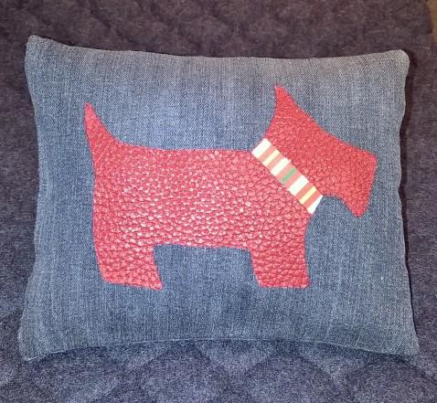 Scotty Dog pillow